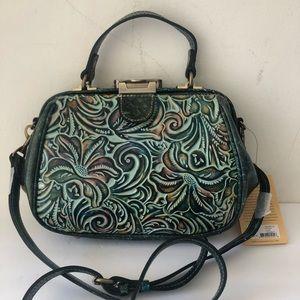 Patricia Nash Frame Gracchi Leath Handbag Turquise